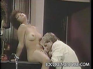 This vintage Tgirl sucks like a real pornstar