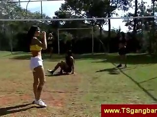 Sport Trannies Playing Volleyball
