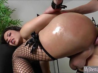 TS Danielly Colucci face fucked and anal