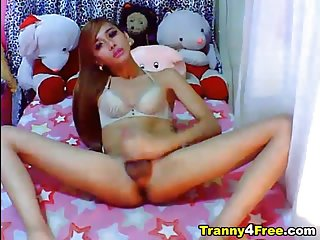 Horny Ladyboy Loves Masturbating