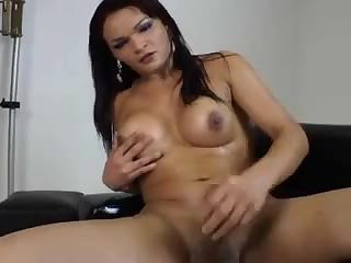 Solo tranny Latina jerking off