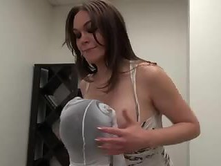 Brunette Shemale Makes Guy Sucking