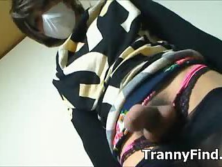 Japanese crossdresser cock